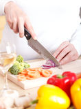 овощи вырезывания Стоковые Изображения