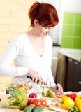 овощи вырезывания Стоковая Фотография RF