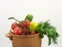 Овощи в керамическом шаре Стоковые Изображения