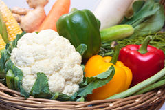 Овощи в корзине. Стоковые Фото