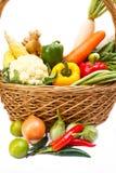 Овощи в корзине. Стоковые Фотографии RF
