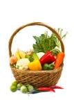 Овощи в корзине. Стоковая Фотография