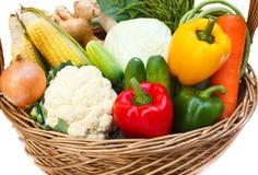Овощи в корзине. Стоковое Фото