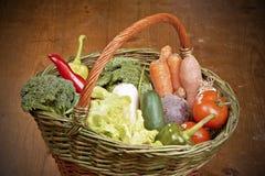 Овощи в корзине Стоковые Фото