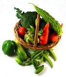 Овощи в корзине Стоковые Фотографии RF
