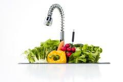 Овощи в кухне Стоковое Изображение RF