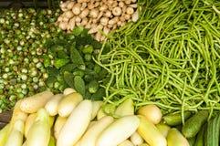 Овощи в рынке Стоковая Фотография