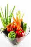 Овощи в стеклянном шаре Стоковые Фотографии RF