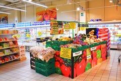Овощи в супермаркете Стоковые Фотографии RF
