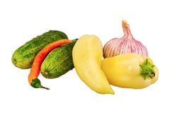овощи группы предпосылки белые Стоковые Изображения