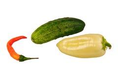 овощи группы предпосылки белые Стоковые Изображения RF