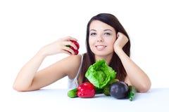 овощи девушки молодые Стоковые Фотографии RF