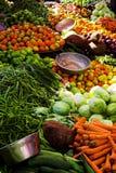 овощи дисплея Стоковое фото RF