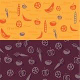 Овощи делают по образцу и предпосылка Стоковые Фото