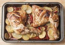 овощи жаркого цыпленка стоковая фотография
