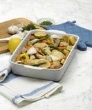 овощи жаркого цыпленка стоковые изображения