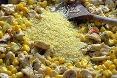 овощи зажаренные цыпленком Стоковое Изображение