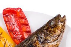 овощи зажженные рыбами Стоковое Изображение RF