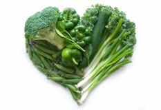 Овощи зеленого цвета формы сердца Стоковое Изображение RF