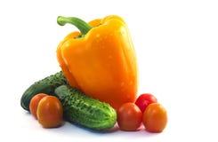 Овощи изолированные на белизне Стоковое Изображение RF