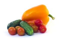 Овощи изолированные на белизне Стоковые Изображения