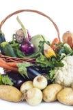 Овощи изолированные на белой предпосылке Стоковое фото RF