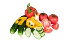 Овощи изолированные на белой предпосылке Стоковая Фотография RF