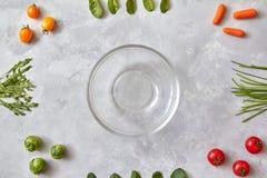 Овощи, ингридиенты для варить салат Стоковое Изображение