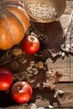 Овощи и гайки осени стоковое изображение rf