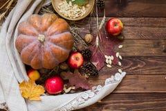 Овощи и гайки осени стоковая фотография