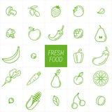 Овощи и предпосылка плодоовощ еда свежая Стоковые Изображения