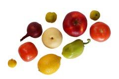 Овощи и плодоовощ на белой предпосылке Стоковая Фотография RF