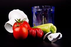 Овощи и резец Стоковое Изображение RF