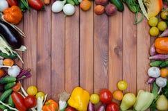 Овощи и состав плодоовощей Стоковые Изображения