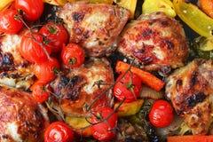 Овощи и цыпленок стоковое изображение