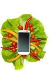 Овощи и Smartphone Стоковая Фотография RF