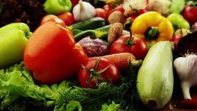 Овощи. Конец-вверх сток-видео