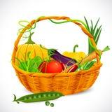 овощи корзины полные иллюстрация вектора
