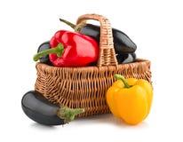 овощи корзины свежие стоковая фотография rf