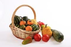 овощи корзины стоковое изображение rf