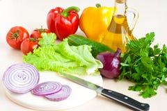 овощи лука масла еды здоровые стоковые фото