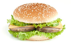 овощи мяса бургера Стоковое Изображение