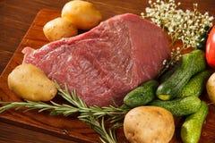 овощи мяса сырцовые стоковое фото