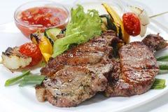 овощи мяса Стоковые Фотографии RF