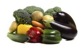 Овощи на белой предпосылке 55 стоковые фото
