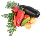 Овощи на белизне. стоковое изображение rf