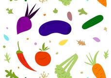 Овощи на белой предпосылке Стоковое Изображение RF