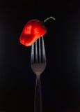 Овощи на вилке Стоковое Изображение