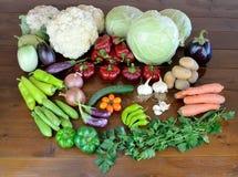 Овощи на деревянной таблице Стоковая Фотография RF