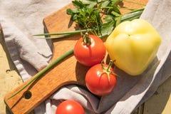Овощи на доске Stewarm, овощи на доске на k Стоковые Изображения RF